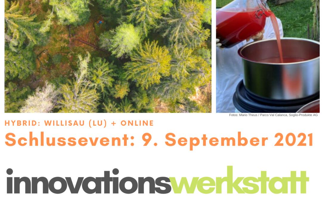 Sei dabei: Schlussevent Inno-Werkstatt Schweizer Pärke am 9. September 2021